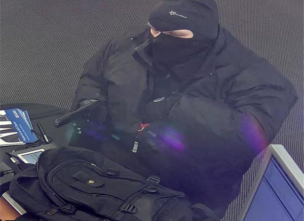 Bewaffneter Raubüberfall auf Bankfiliale in Oberdorf (Schweiz).  Foto: Polizei Basel-Landschaft