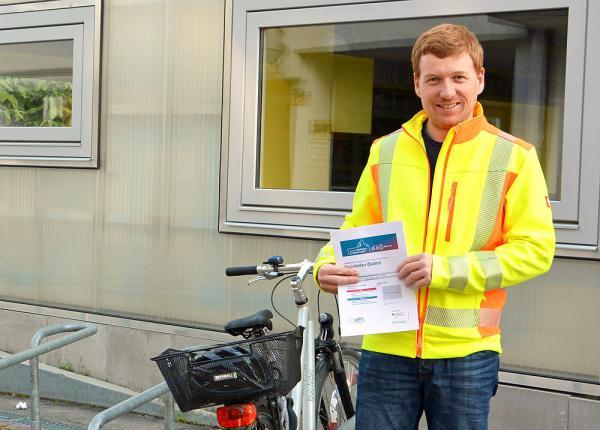 Rheinfelden erreichte bei Fahrradklima-Tests des Allgemeinen Deutschen Fahrrad-Clubs neunten Platz. Radverkehrsbeauftragter Patrick Nacke von der Stadtverwaltung freut sich über das gute Abschneiden.  Foto: Stadt Rheinfelden