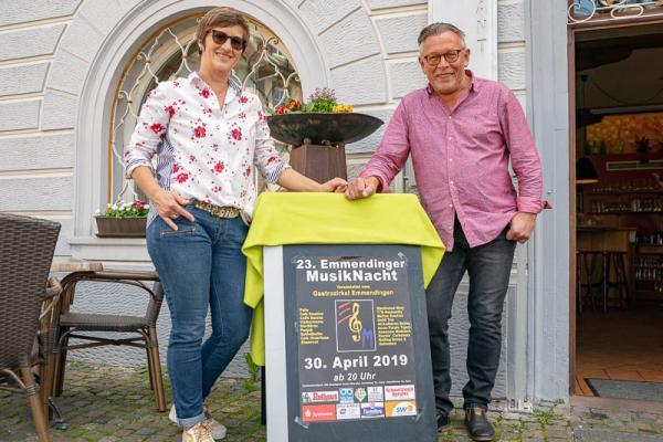 23. Emmendinger Musiknacht am 30. April - Beatrix und Hubert Bührer organisieren die Emmendinger Musiknacht seit vielen Jahren.