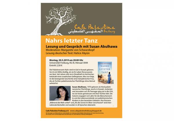 Poster Nahrs letzter Tanz - Lesung und Gespräch mit Susan Abulhawa