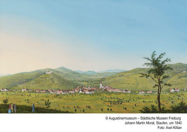 Blauer Himmel über Baden - Ortsansichten von Johann Martin Morat im Haus der Graphischen Sammlung in Freiburg