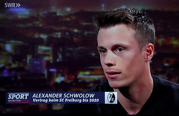 """Alexander Schwolow zu Gast bei """"Sport im Dritten""""  TV-Bild"""