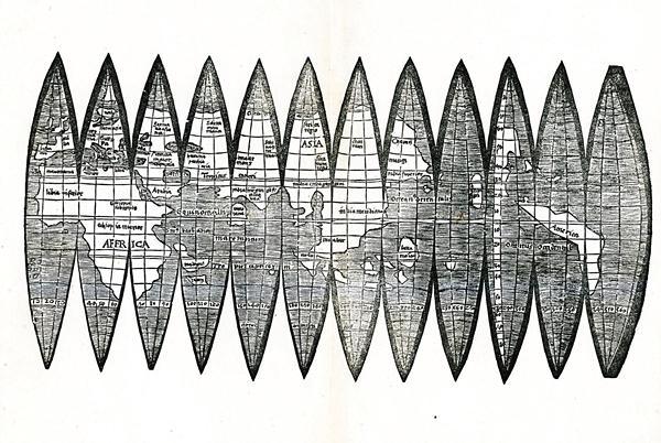 Offenburger Globussegmentkarte 1507  Foto: Museum im Ritterhaus