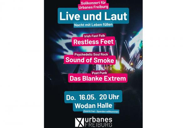 """16. Mai: """"Live und Laut - Nacht mit Leben füllen!"""".  Foto: Urbanes Freiburg"""