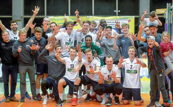 FT 1844 Freiburg erhält Wildcard für 2. Volleyball Bundesliga Süd. Jubel bei der FT 1844 Freiburg über die Vergabe der Wildcard.  Foto: FT 1844 Freiburg