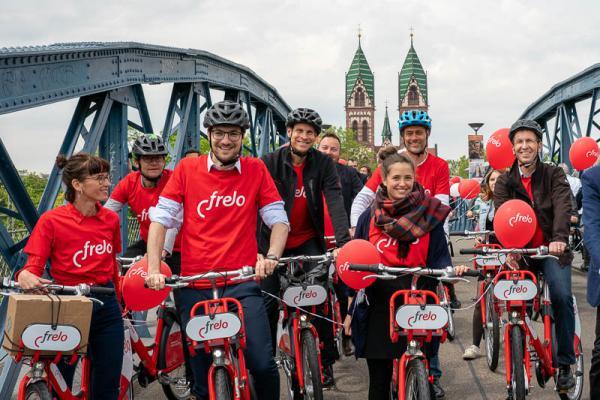 """In Freiburg startet das Fahrrad-Verleihsystem """"Frelo"""""""