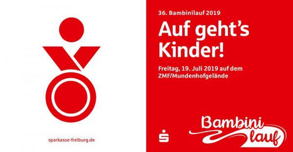 19. Juli: 36. Bambinilauf der Sparkasse für sportbegeisterte Kinder in Freiburg.  Foto: Sparkasse Freiburg-Nördlicher Breisgau