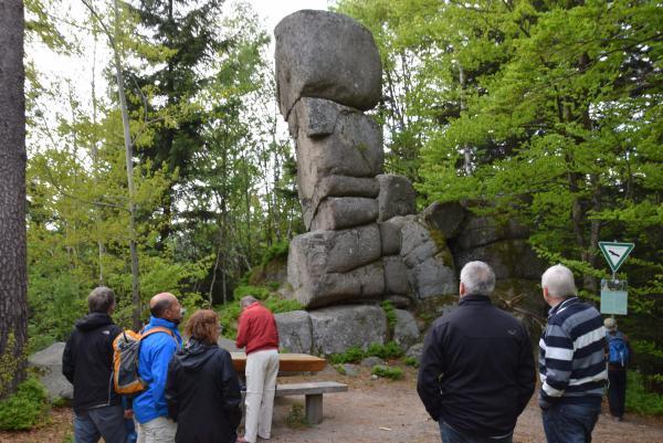 Wanderung zum Siebenfelsen, der mystischen Steinformation