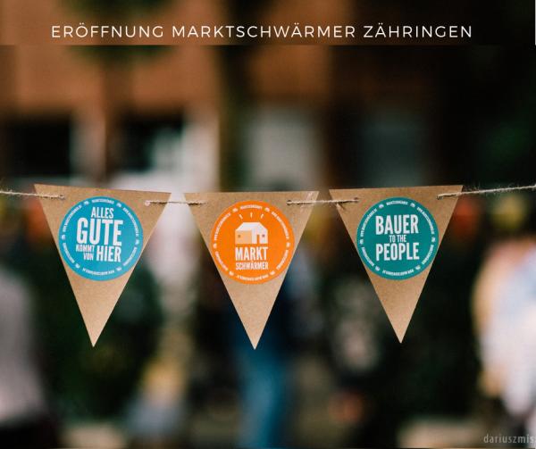 """Eröffnung Marktschwärmer in Freiburg Zähringen am Donnerstag 27. Juni von 17:30 - 19:00 Uhr im """"Hier und Jetzt"""" in der Zähringerstrasse in Freiburg"""