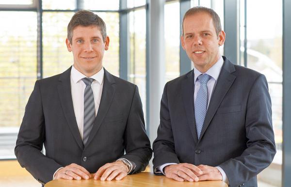 Bauverein Breisgau mit deutlichem Wachstum im Jubiläumsjahr. Jörg Straub und Marc Ullrich vom Vorstandsteam.  Foto: Bauverein Breisgau eG