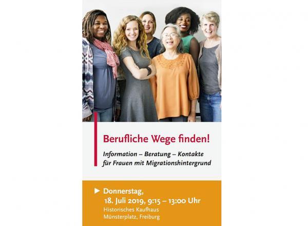 18: Juli: Berufliche Wege finden - Infovormittag für Frauen mit Migrationshintergrund im Historischen Kaufhaus in Freiburg.  Foto: Stadt Freiburg