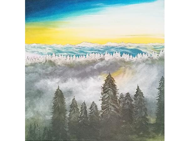 """Die Malschule """"malenimfarbenrausch"""" aus Waldkirch stellt aus."""