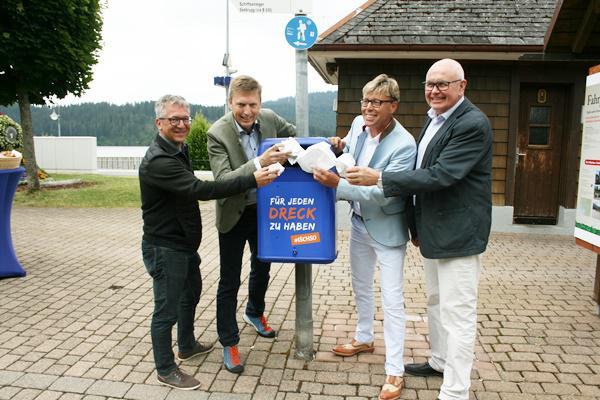 Für eine saubere Landschaft: Sprechende Mülleimer in Schluchsee und Feldberg