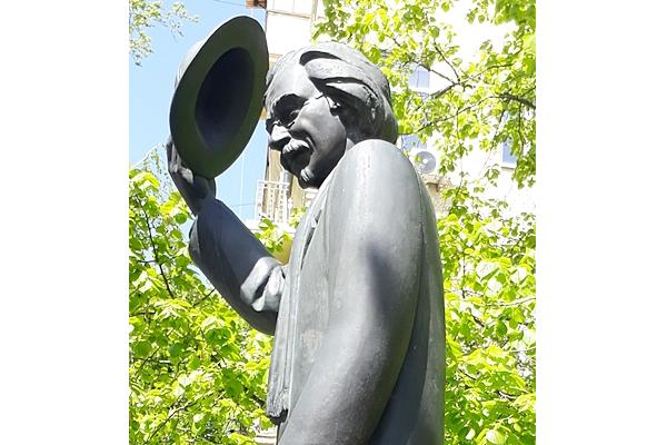 Alejchem Denkmal in Kiew, Skulptor Wiktor Medwedjew.  Foto: ©H. Setzer