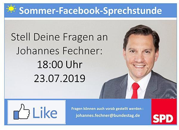 Zweite Facebook-Sprechstunde des Bundestagsabgeordneten Johannes Fechner  Foto: Wahlkreisbüro Dr. Johannes Fechner