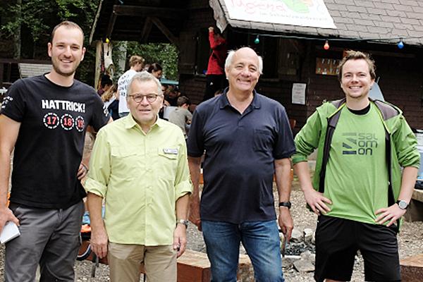 Von links: Simon Runtze, Meinrad Joos, Alexander Schoch und Alexander Egberts.  Foto: Wahlkreisbüro Alexander Schoch Emmendingen