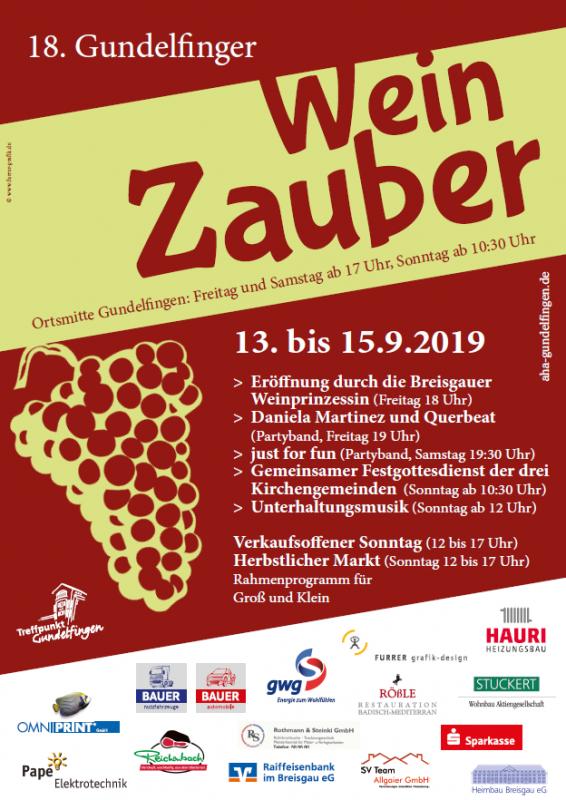 Gundelfinger WeinZauber 2019  Foto: FSRM