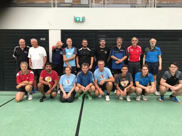 Teilnehmer Bootcamp 4.0 der Denzlinger Tischtennisabteilung