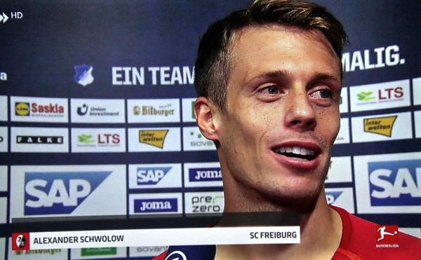 Garant für den Erfolg war auch Torhüter Schwolow, der mit Glanzparaden dafür sorgte, dass die Null stehen blieb!  TV-Bild