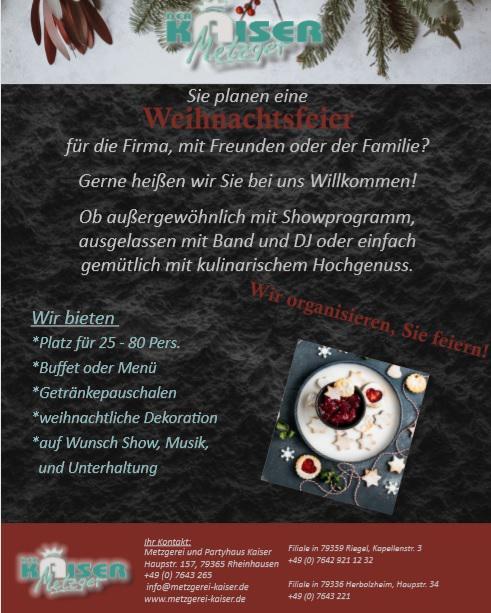 Weihnachtsfeier in Kaiser's Partyhaus - Der Kaiser Metzger