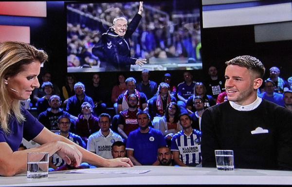 Besuch von Christian Günter im Aktuellen Sportstudio beim ZDF.  TV-Bild