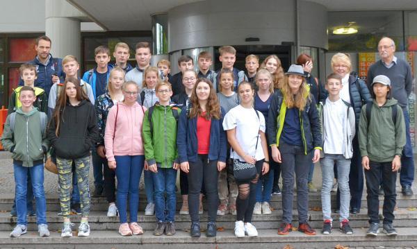 Schüler des Europäischen Gymnasiums Meerane zu Gast in Lörrach.  Foto: Stadt Lörrach