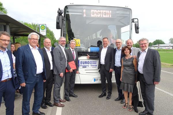 Öffentliche grenzüberschreitende Eurodistrikt-Buslinie für 2020