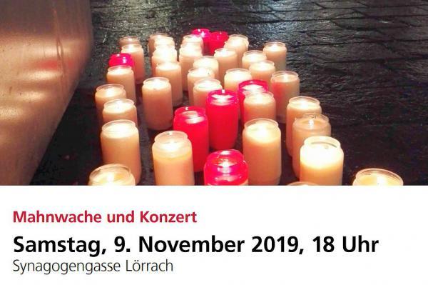9. November: Mahnwache und Konzert in Lörrach zum Gedenken an die Pogromnacht.  Foto: Stadt Lörrach