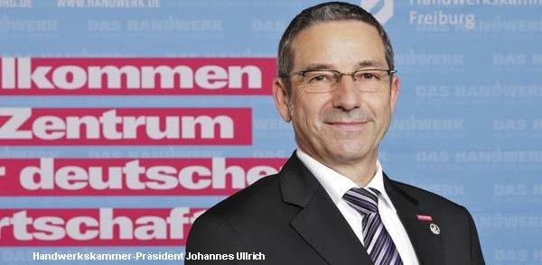 Johannes Ullrich, Präsident der Handwerkskammer Freiburg  RT-Archivbild