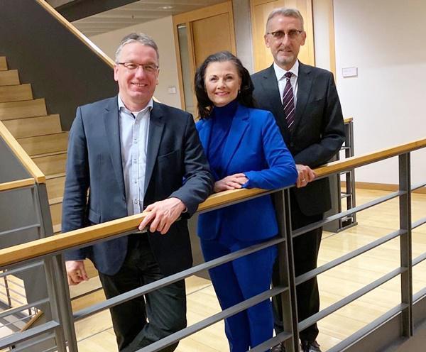 V.li.: Thomas Walz, Gitta Connemann, Armin Schuster  Foto: Büro Schuster