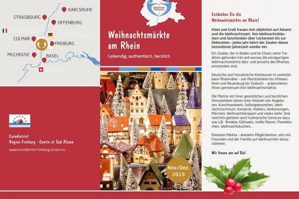Neues Faltblatt informiert über Weihnachtsmärkte in Rheinnähe im Eurodistrict Region Freiburg-Centre et Sud Alsace.  Foto: Landratsamt Emmendingen