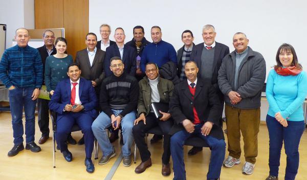 Marokkanische Delegation informierte sich über die Energiepolitik von Lahr. Delegation aus Marokko mit Begleitung und Übersetzerin sowie Manfred Kaiser (Leiter der Stabsstelle Umwelt der Stadt Lahr).  Foto: Stadt Lahr
