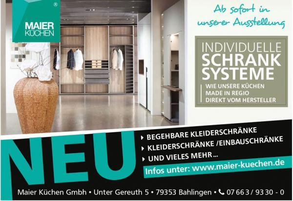 Maier Küchen | Unter Gereuth 5, 79353 Bahlingen, Tel. 07663/93300, www.maier-kuechen.de