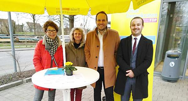 Von links: Eva Münzer, Felicitas Heimburger, Felix Fischer, Chris Müller