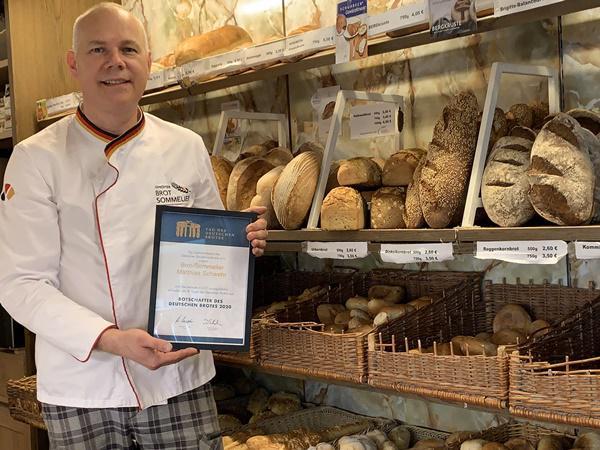 Brot-Sommelier Matthias Schwehr ist einer der Brot-Botschafter 2020   Bild: Bäckerei Schwehr