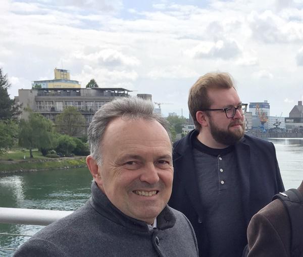 Alex Maier und Josha Frey, beide Mitglieder des Landtages  Bild: Wahlkreisbüro Josha Frey