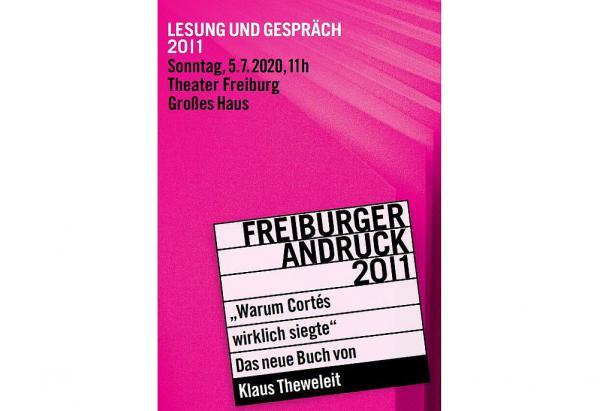 """5. Juli: Lesereihe """"Freiburger Andruck"""" startet wieder - Klaus Theweleit stellt im Theater Freiburg sein neues Buch """"Warum Cortés wirklich siegte"""" vor.  Foto: Stadt Freiburg"""