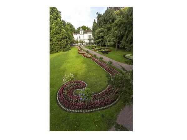Blumenbeete Stadtpark im Lahr  Bild: Stadt Lahr