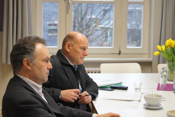 Josha Frey (vorne), Verkehrsminister Winfried Hermann   Bild: Wahlkreisbüro Josha Frey