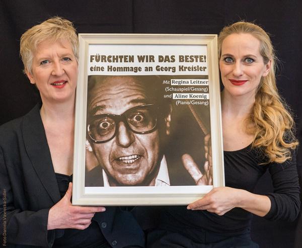 Hommage an Georg Kreisler mit Regina Leitner und Aline Koenig in Rheinfelden  Bild: Stadt Rheinfelden