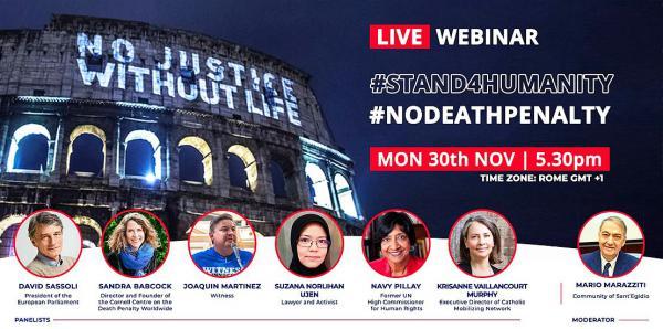 """30. November: """"Städte für das Leben - Städte gegen die Todesstrafe"""" - Gemeinschaft Sant'Egidio lädt zu Webseminar ein.  Foto: Gemeinschaft Sant'Egidio"""