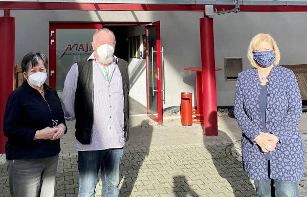 Kinos in der Krise - SPD-Landtagsabgeordnete Wölfle besuchte CineMaja in Emmendingen.  Foto: Büro Sabine Wölfle