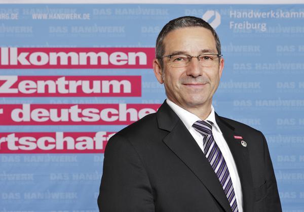 Johannes Ullrich, Präsident der Handwerkskammer Freiburg