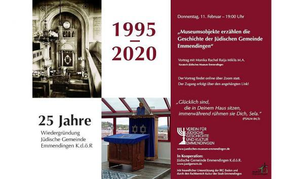 11. Februar: Museumsobjekte erzählen die Geschichte der Jüdischen Gemeinde Emmendingen.  Foto: Jüdisches Museum Emmendingen