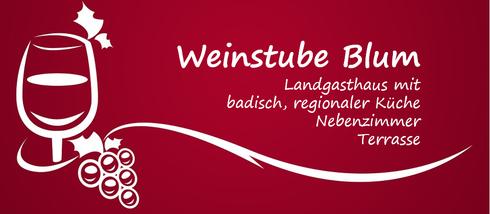 Weinstube Blum   Bahnhofstr. 10, 79331 Teningen-Köndringen, Tel.: 07641/9628043  UNSERE EMPFEHLUNGEN   Ihre guten Adressen in der Regio Weingut Mößner-Burtsche, Köndringen Löwenbrauerei Elzach Getränke Beck, Reute