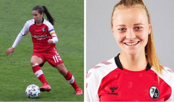 1:0-Heimerfolg durch einen Treffer von Hasret Kayikci (links) - Für die nach Schweden gewechselte Stefanie Sanders stand Mia Büchele (rechts) auf dem Platz.   RT-Archivbilder