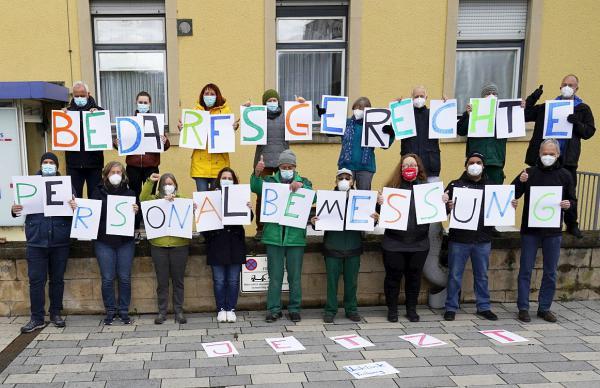 Mehr Personal in Krankenhäusern gefordert - Ver.di Südbaden hatte zu Aktion an Uniklinik Freiburg aufgerufen.  REGIOTRENDS-Foto: Jens Glade