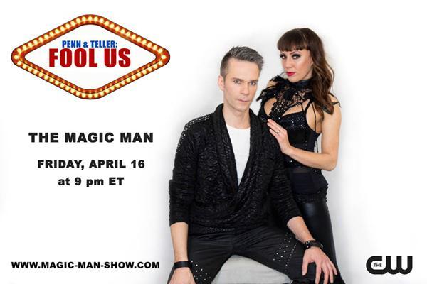 Illusionist THE MAGIC MAN bei Penn & Teller