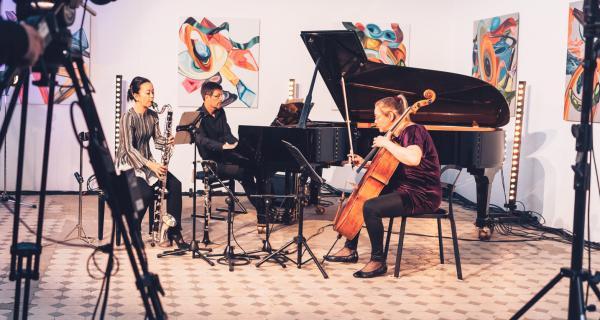 ensemble recherche im Bildhauersaal des E-Werks Freiburg