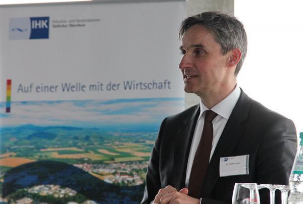 Dr. Steffen Auer, Präsident der IHK Südlicher Oberrhein.   Bild: FSRM